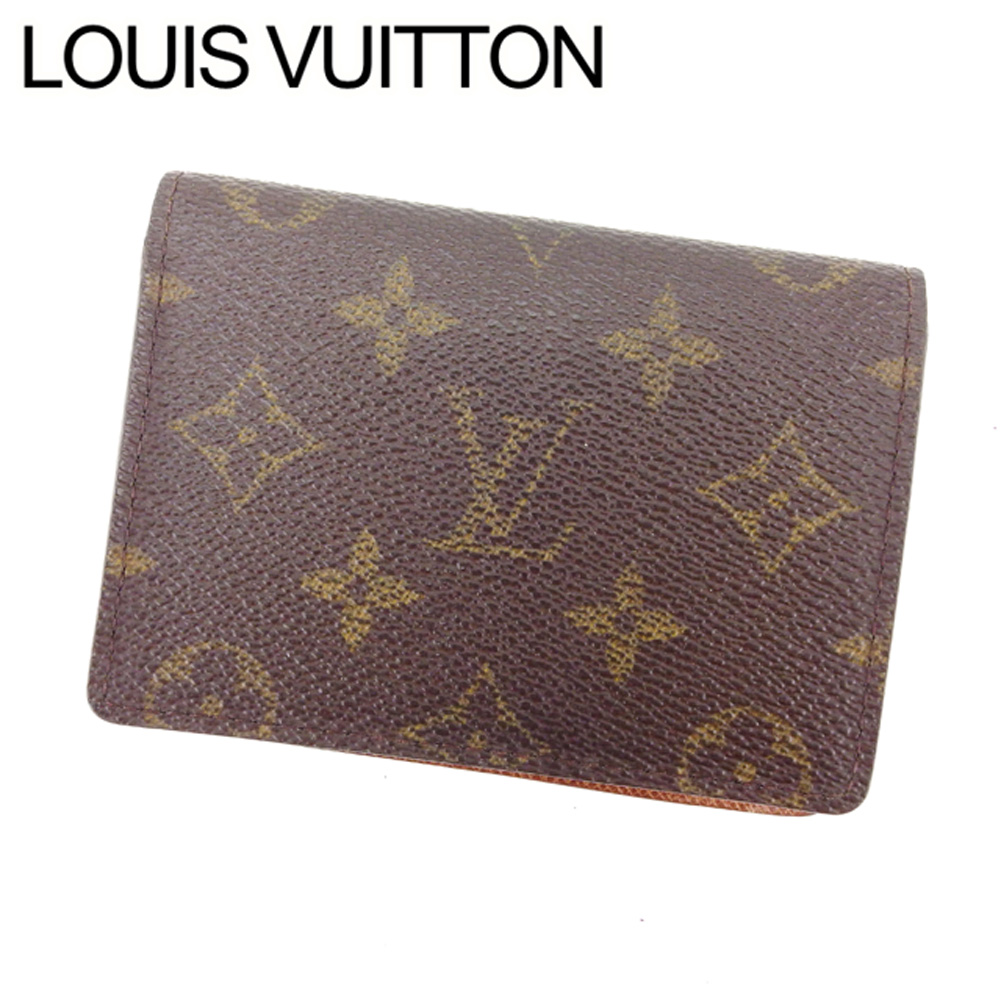 【中古】 【送料無料】 ルイヴィトン Louis Vuitton 定期入れ パスケース メンズ可 ポルト2カルトヴェルティカル モノグラム M60533 ブラウン モノグラムキャンバス (あす楽対応) K262 .