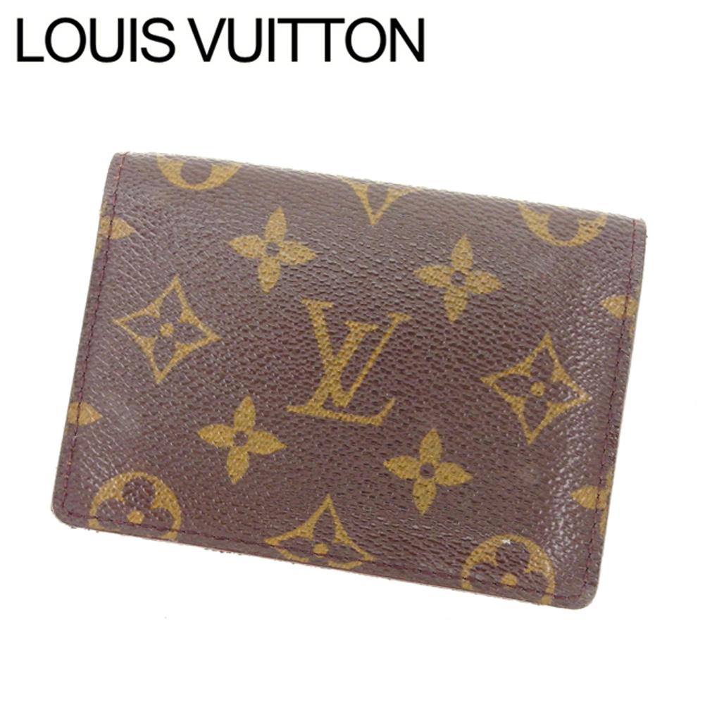 【中古】 【送料無料】 ルイヴィトン Louis Vuitton 定期入れ パスケース メンズ可 ポルト2カルトヴェルティカル モノグラム M60533 ブラウン モノグラムキャンバス (あす楽対応)人気 L586 .