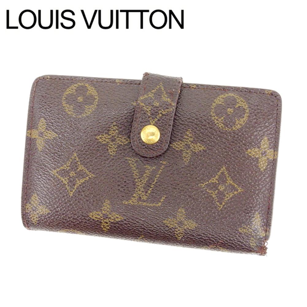 【中古】 【送料無料】 ルイヴィトン Louis Vuitton がま口財布 二つ折り /メンズ可 /ポルトモネ ビエヴィエノワ モノグラム M61663 ブラウン PVC×レザー (あす楽対応)人気 R1075 .