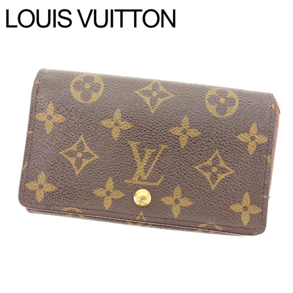 【中古】 【送料無料】 ルイヴィトン Louis Vuitton L字ファスナー財布 二つ折り メンズ可 /ポルトモネビエトレゾール モノグラム M61730 ブラウン PVC×レザー (あす楽対応)人気 激安 Y1040 .