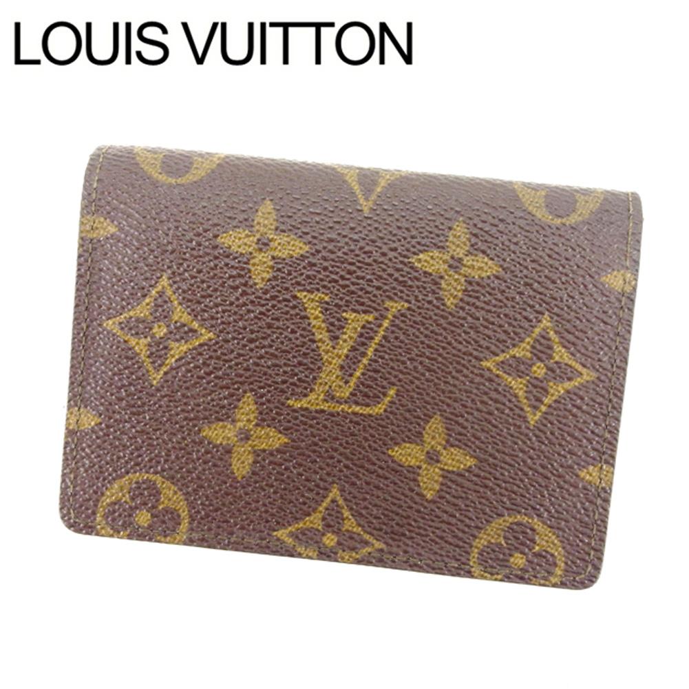【中古】 【送料無料】 ルイヴィトン Louis Vuitton 定期入れ /パスケース メンズ可 /ポルト2カルトヴェルティカル モノグラム M60533 ブラウン PVC×レザー (あす楽対応) 激安 Y1797 .