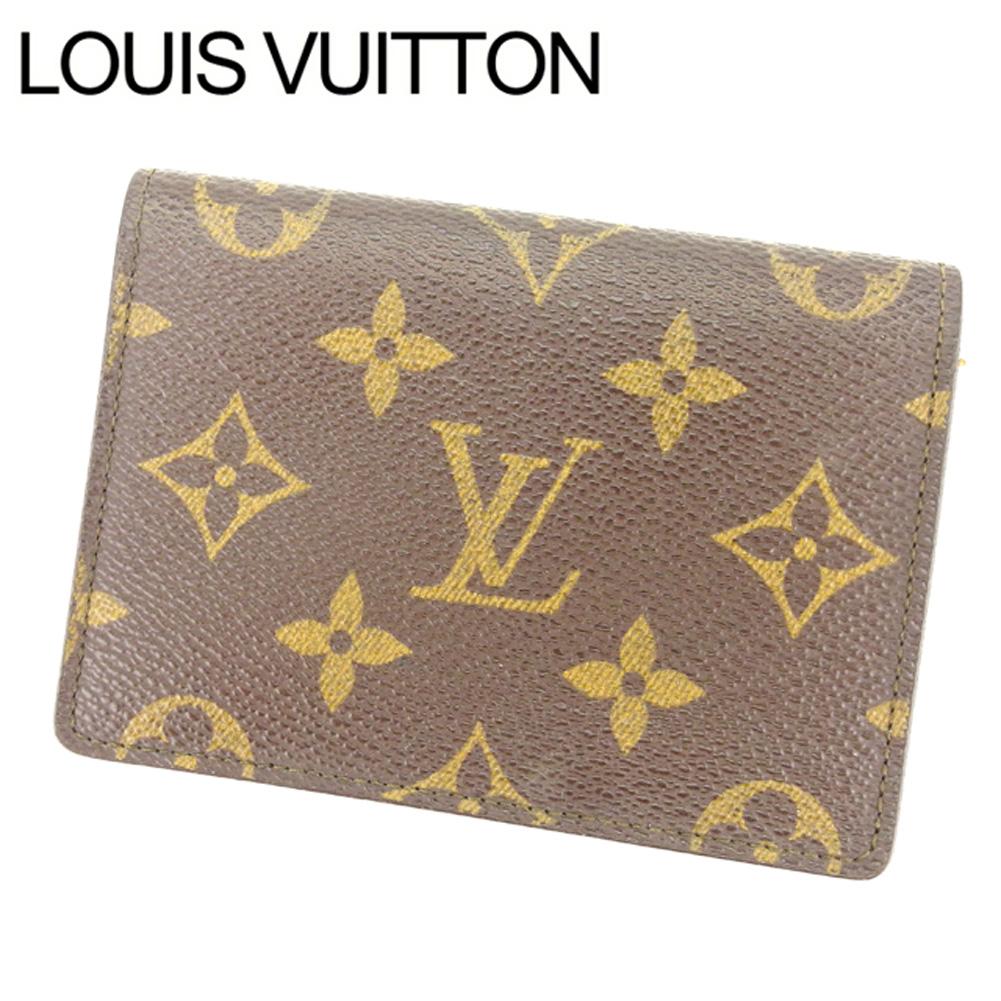 【中古】 PVC×レザー /ポルト2カルトヴェルティカル メンズ可 M60533 /パスケース モノグラム Louis 定期入れ Y2242 ルイヴィトン ブラウン 【送料無料】 Vuitton . (あす楽対応)良品