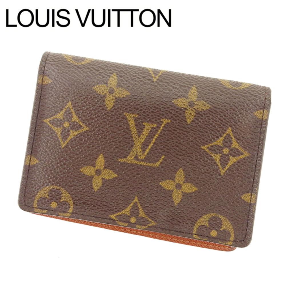 【中古】 【送料無料】 ルイヴィトン Louis Vuitton 定期入れ /パスケース メンズ可 /ポルト2カルトヴェルティカル モノグラム M60533 ブラウン PVC×レザー (あす楽対応) Y2285 .