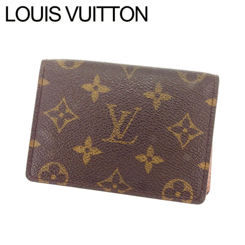 【中古】 【送料無料】 ルイヴィトン Louis Vuitton 定期入れ パスケース メンズ可 ポルト2カルトヴェルティカル モノグラム M60533 ブラウン モノグラムキャンバス (あす楽対応) Y3195 .