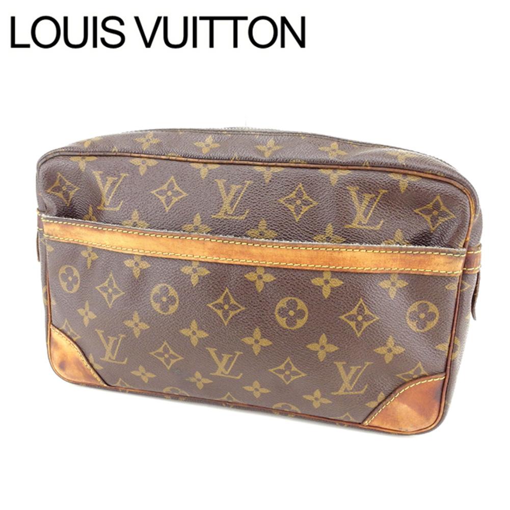 【中古】 【送料無料】 ルイヴィトン セカンドバッグ クラッチバッグ レディース モノグラム コンピエーニュ28 ブラウン PVC×レザ- Louis Vuitton Y3380 .