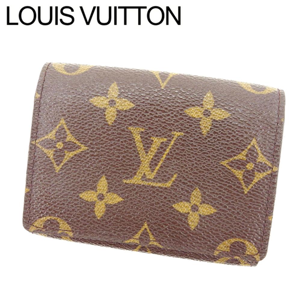 【中古】 ルイヴィトン Louis Vuitton 名刺入レ レディース アンヴェロップカルトドゥヴィジット PVC×レザ- T10989