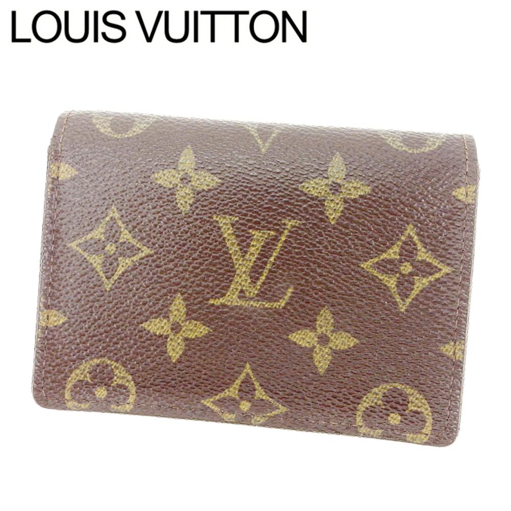 【中古】 【送料無料】 ルイヴィトン Louis Vuitton 定期入れ /パスケース メンズ可 /ポルト2カルトヴェルティカル モノグラム M60533 ブラウン PVC×レザー (あす楽対応)(激安・即納) Y375 .