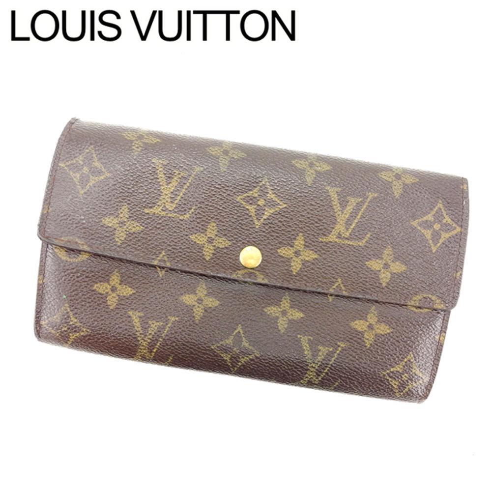 【中古】 ルイヴィトン L字ファスナー財布 さいふ 二つ折り ポルトモネビエトレゾール モノグラム ブラウン PVC×レザ- Louis Vuitton ファスナー財布 さいふ 財布 さいふ サイフ 収納 財布 さいふ ユニセックス 小物 1点物 T14036