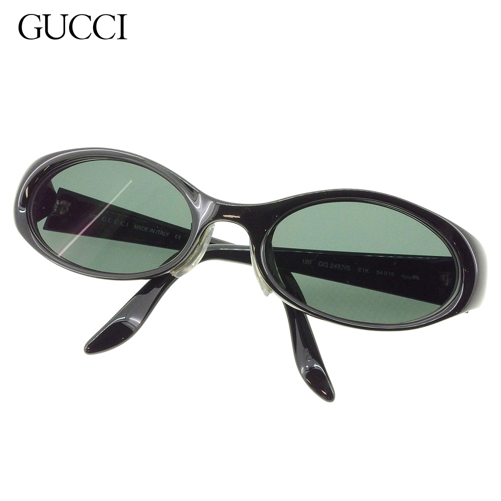 04d94e53bd Entering Gucci GUCCI sunglasses glasses eyewear Lady's men G mark degree  Oval black silver plastic X silver metal fittings popularity sale L2840