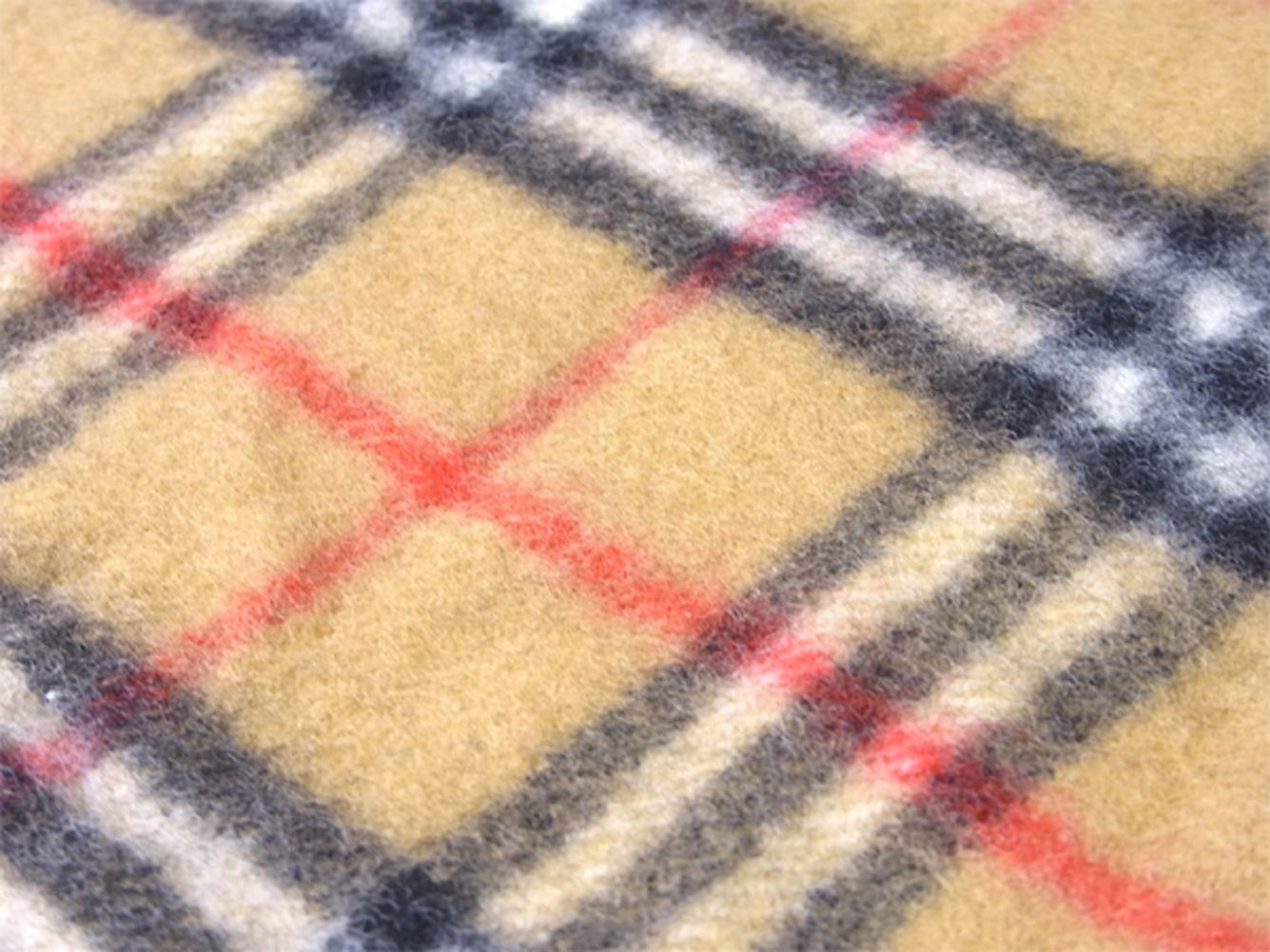 バーバリー BURBERRY マフラー フリンジ付き ガールズ ボーイズ キッズ 子供用 ベージュ ブラック レッド系 ウール 毛 T9735 AOXZiuTkP