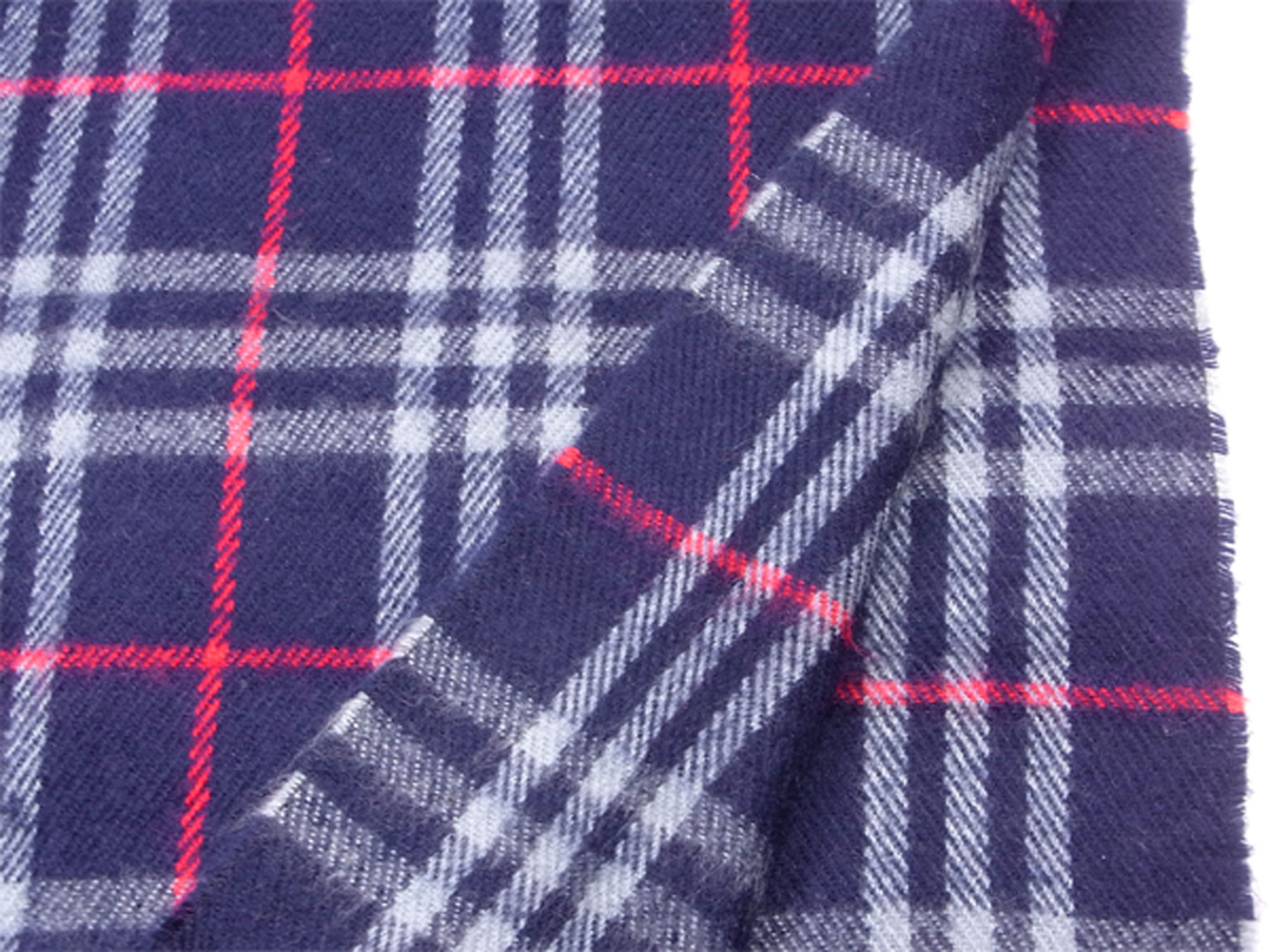 6de20e3018df7 ... Lady's men check navy-blue red wool hair popularity sale T9984 with the Burberry  BURBERRY ...