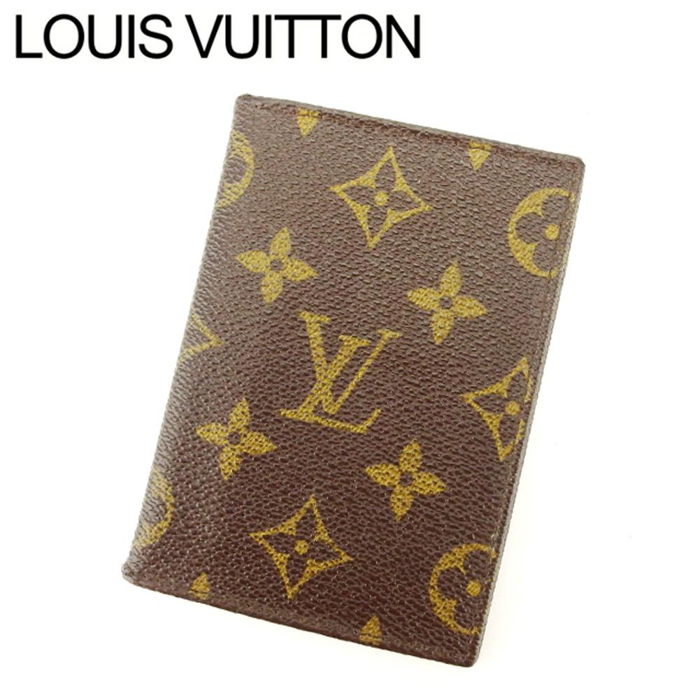 【中古】 ルイ ヴィトン Louis Vuitton 定期入れ パスケース レディース メンズ 可 モノグラム ブラウン ベージュ モノグラムキャンバス定期入れ C3245s .