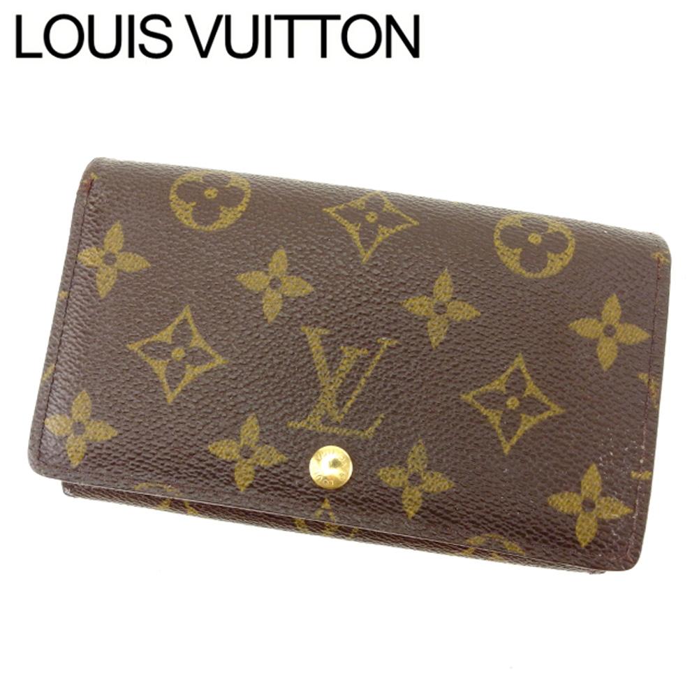 【中古】 ルイ ヴィトン LOUIS VUITTON L字ファスナー財布 二つ折り財布 レディース メンズ ポルトモネビエトレゾール モノグラム ブラウン モノグラムキャンバス 人気 セール T8330 .