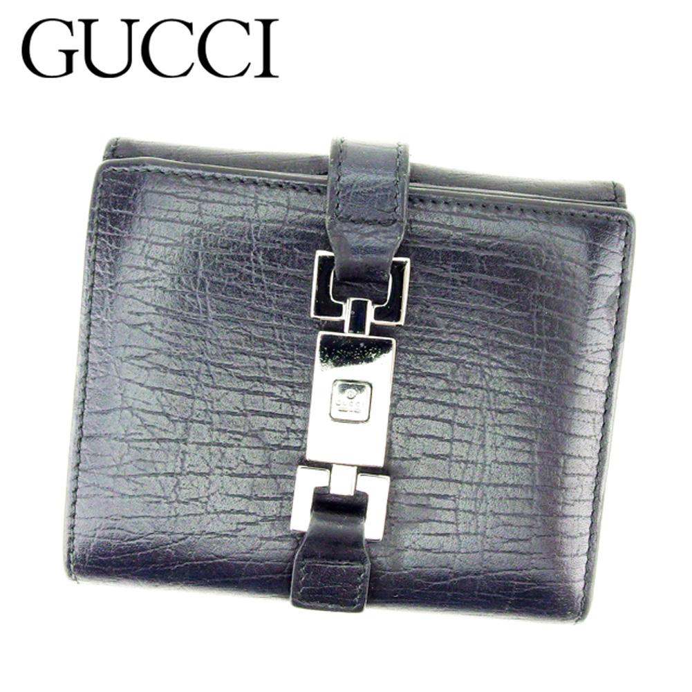b417ee58e912 人気 良品 グッチ Wホック財布 ビット金具 レディース メンズ【】 E1300 ?財布 ?