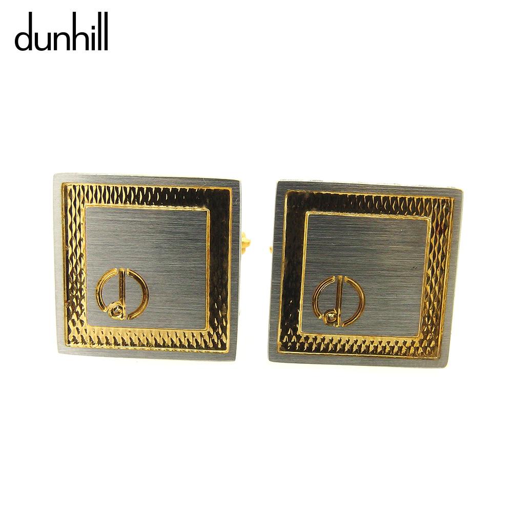 【中古】 ダンヒル dunhill カフス アクセサリー メンズ可  シルバー ゴールド シルバー金具 人気 セール L2504 .