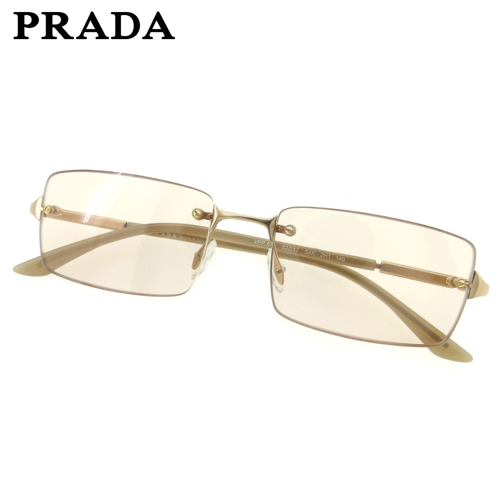 f838279e8b Prada PRADA sunglasses eyeware Lady s men brown gold popularity sale L2510