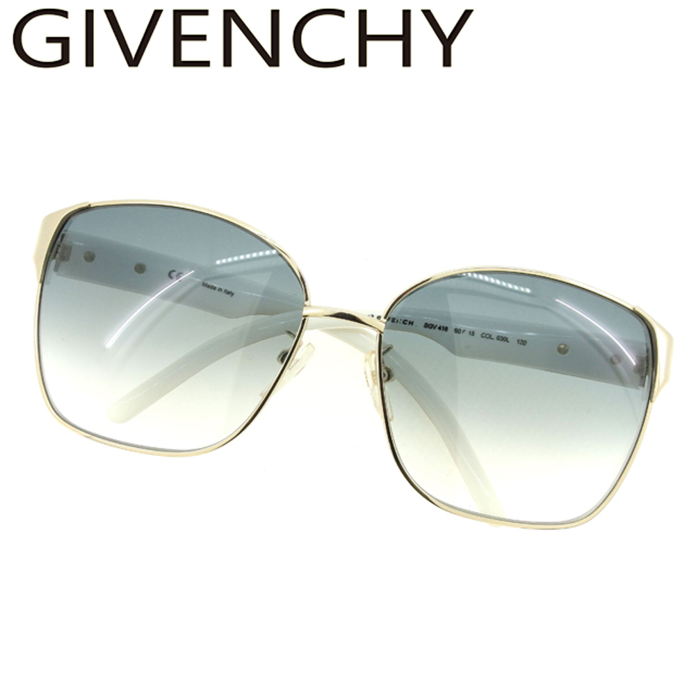 0df8c88ac2 ジバンシィ GIVENCHY sunglasses eyeware Lady s men gold white white navy  popularity E1370
