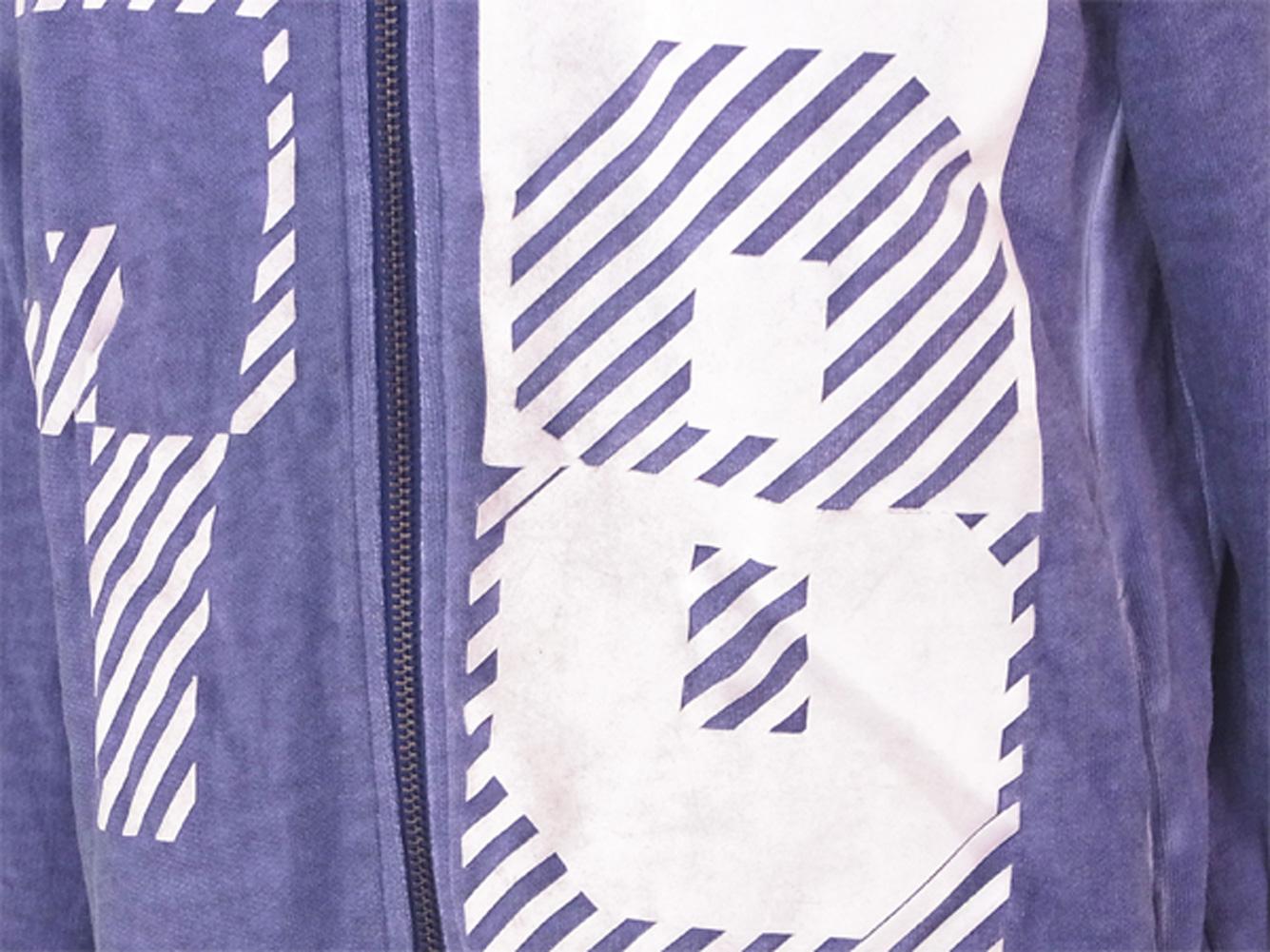 ディーゼル パーカー ジップアップ ♯12サイズ プリント ブルー ホワイト 白 綿 コットンDIESEL レディース プレゼント 贈り物 1点物 人気 良品 夏 迅速発送 オシャレ 大人 在庫処分 ファッション T14933 AE9WIYDH2