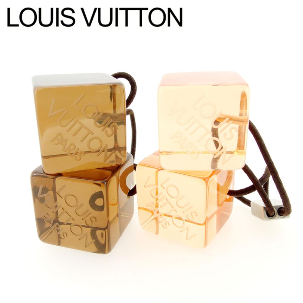 【中古】 ルイ ヴィトン Louis Vuitton ヘアゴム ヘアアクセサリー レディース ヘアキューブ オレンジ ブラウン 人気 セール H632 .