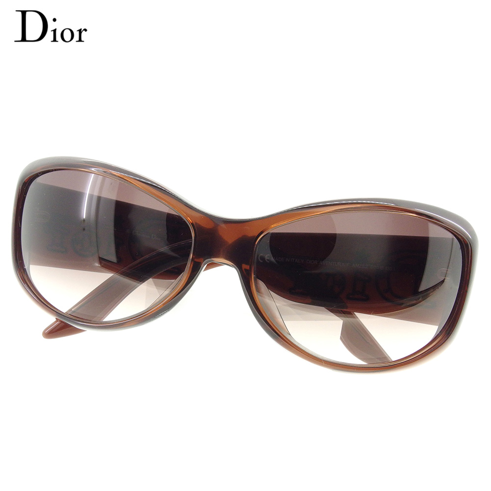 5c54fe811c Entering Dior Dior sunglasses glasses eyewear Lady s side logo full rim  Oval type brown gold plastic X gold metal fittings beauty product sale D1976
