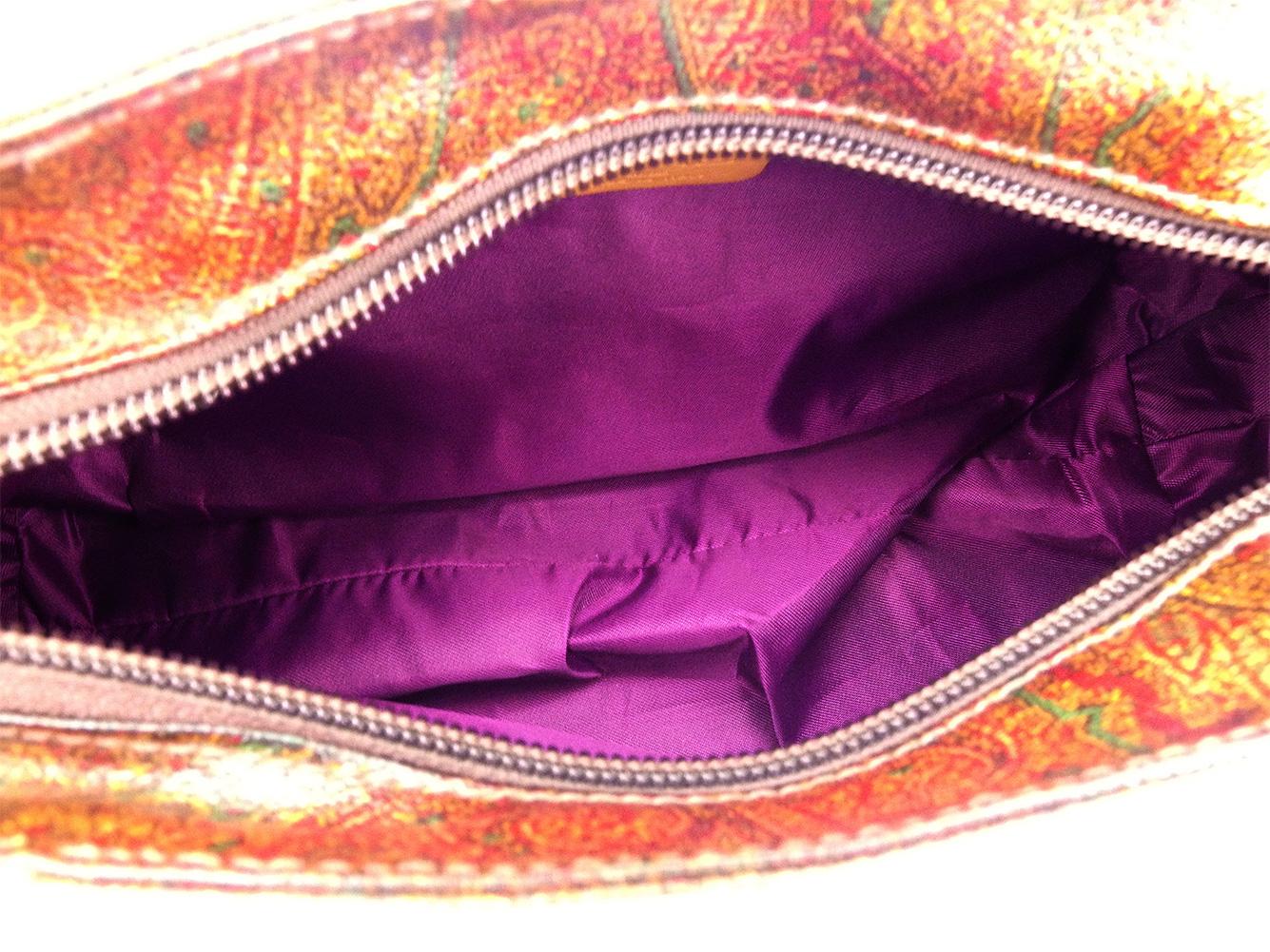 e5d3032a8 Beige silver PVC X leather popularity quality goods D2025 of エトロ ETRO  handbag shoulder bag Lady's men paisley Brown line
