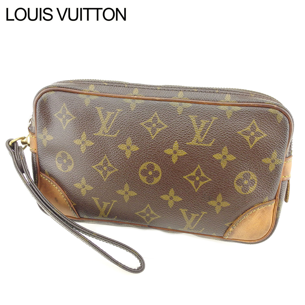 28b57e7b0d8c Louis Vuitton Louis Vuitton clutch bag second bag Lady s men   マルリードラゴンヌ PM  monogram brown PVC X leather - discontinuance of making popularity I548