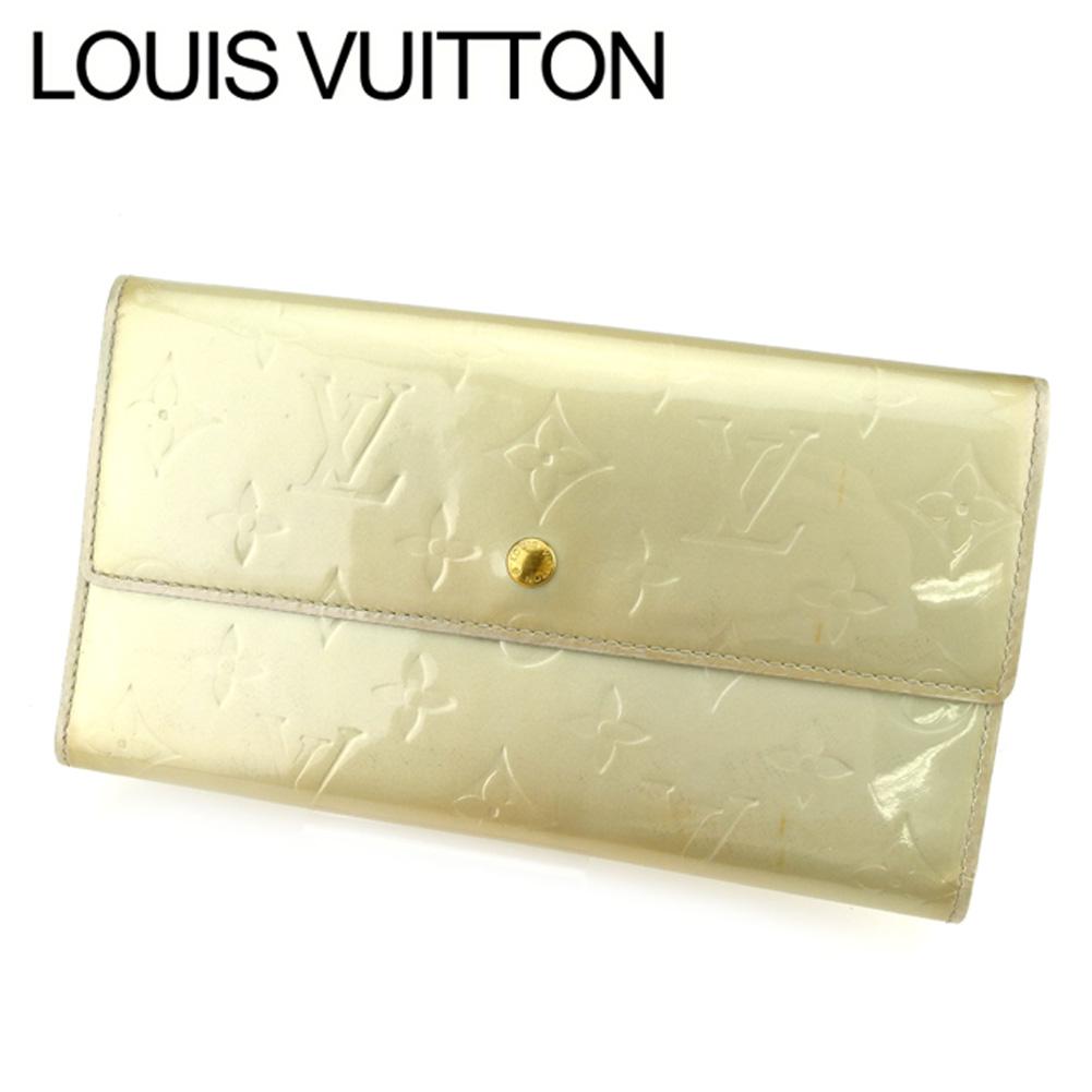 夏 プレゼント 中古 ルイ 上品 ヴィトン 長財布 三つ折り財布 ポルトトレゾールインターナショナル シルバー ブルー 限定価格セール ヴェルニ T5468 Vuitton パテントレザー Louis