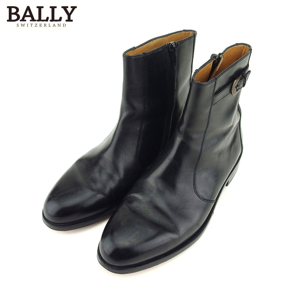 great deals 2018 sneakers exclusive shoes One point of Barry boots shoes shoes ♯ 8 black leather Bally Lady's  Christmas present present thing popularity quality goods brand quickness  shipment ...