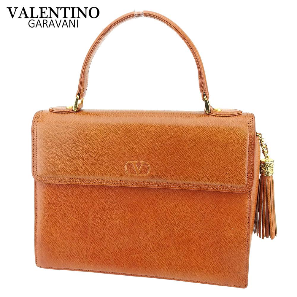 【中古】 ヴァレンティノ ガラバーニ VALENTINO GARAVANI ハンドバッグ バッグ レディース  ブラウン レザー 人気 セール G1367 .