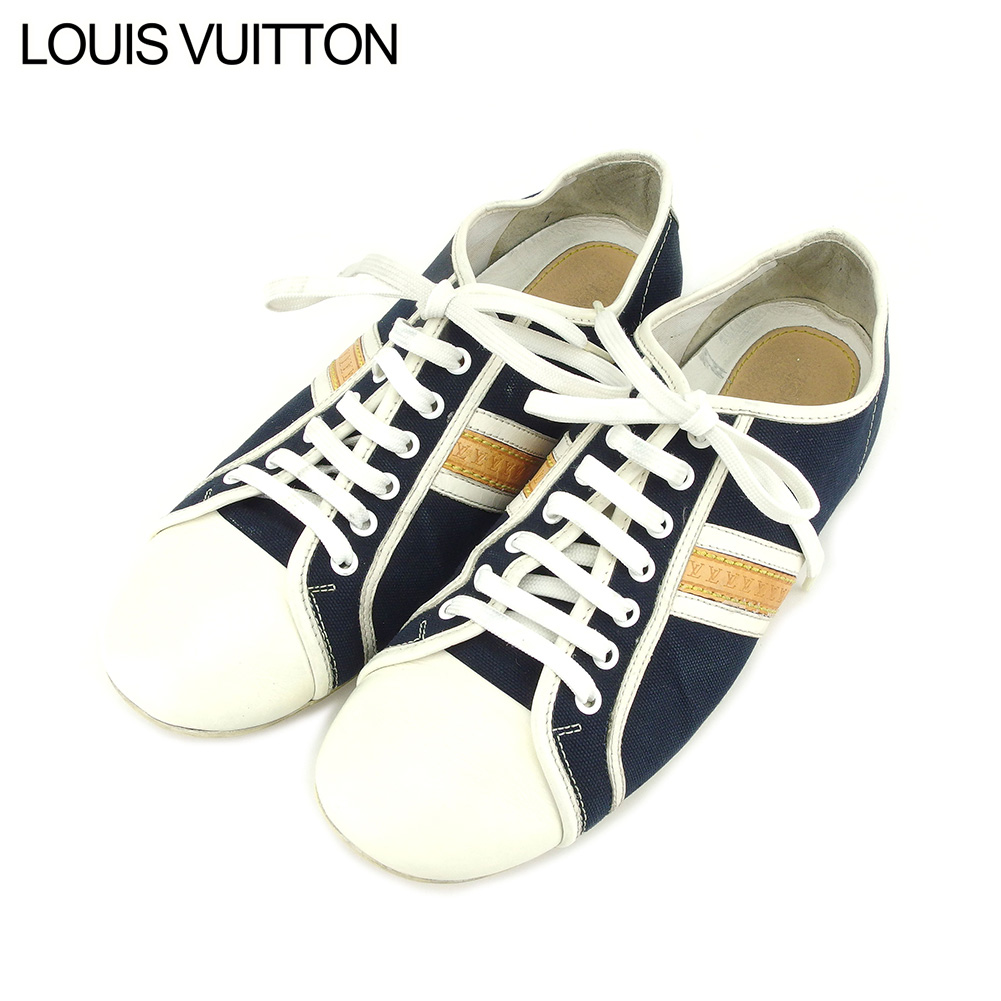 37eeea211331 Louis Vuitton Louis Vuitton sneakers shoes shoes men white white navy canvas  X leather popularity quality goods T9222