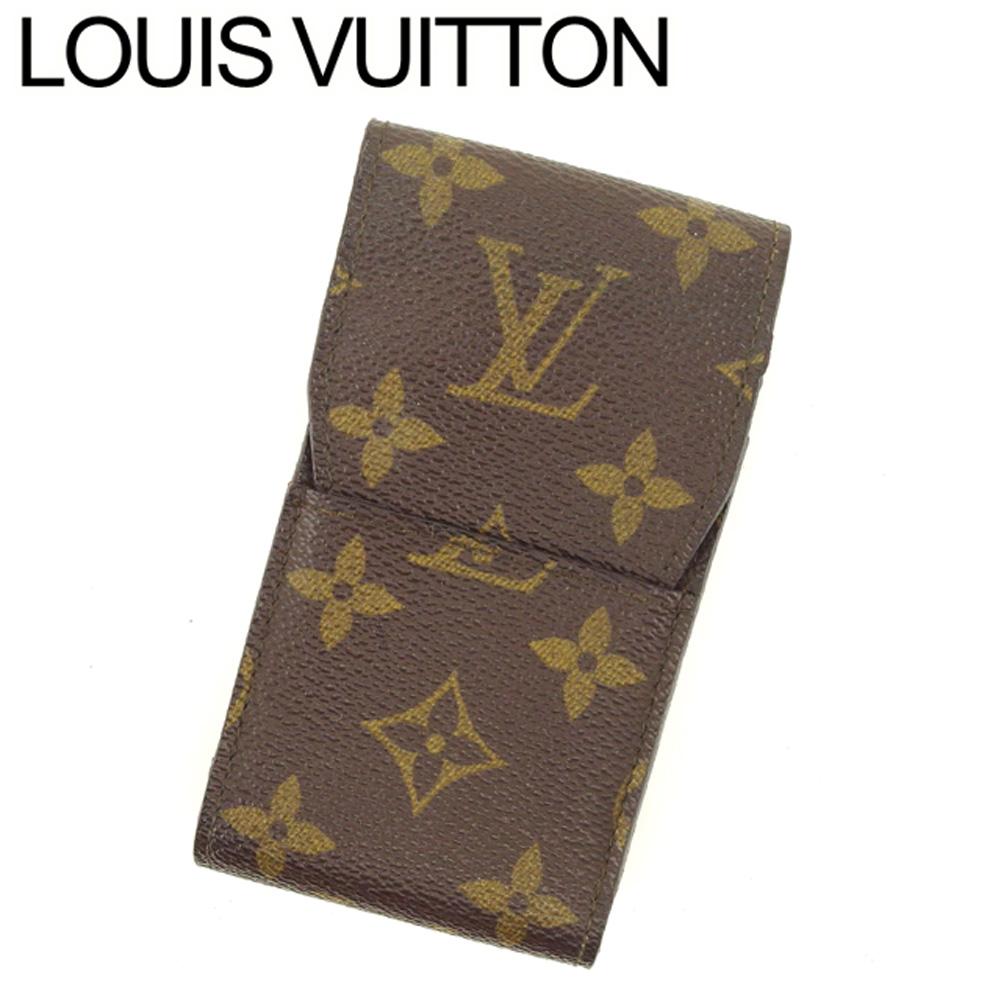 【中古】 ルイ ヴィトン Louis Vuitton シガレットケース タバコケース レディース メンズ エテュイシガレット モノグラム ブラウン ベージュ モノグラムキャンバス 人気 セール C3555