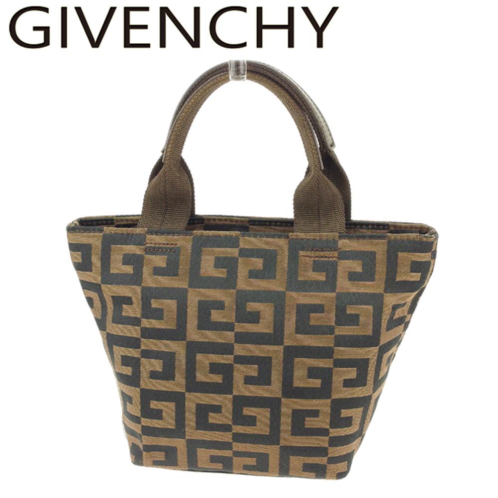 a625b96ffa ジバンシィ GIVENCHY handbag mini-tote bag Lady's 4G logo brown black canvas X  leather popularity ...