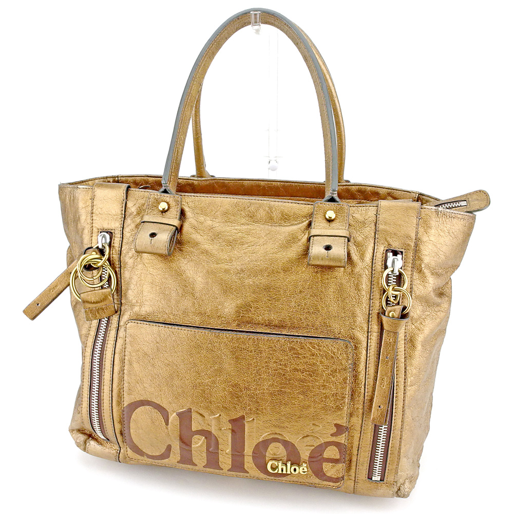【中古】 クロエ Chloe トートバッグ ワンショルダー レディース メンズ エクリプス ブラウン レザー 人気 セール L2602