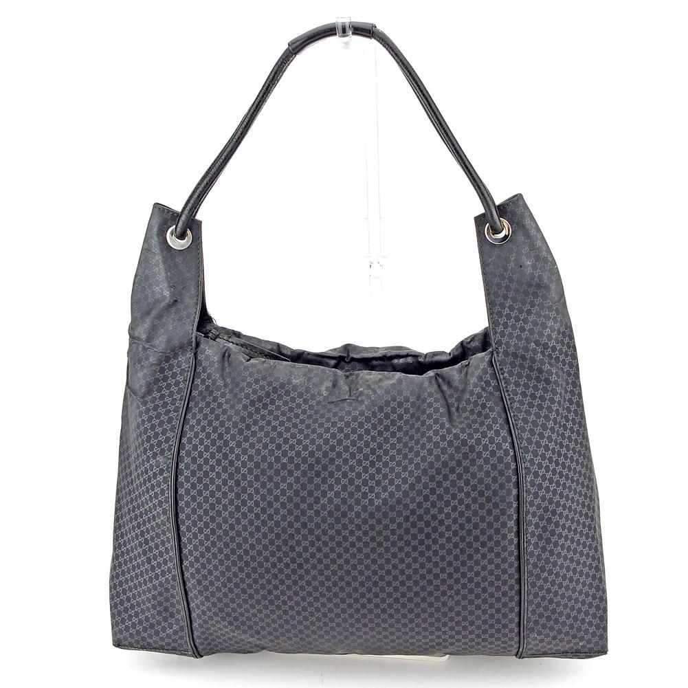 840a6ff83930 Gucci GUCCI shoulder bag one shoulder Lady's men micro GG black nylon X  leather popularity sale L2605
