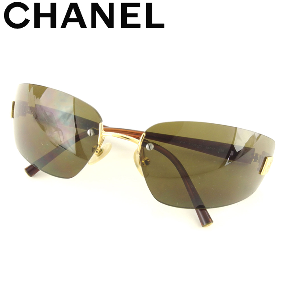 a68c00abee Chanel CHANEL sunglasses eyeware Lady s men here Mark Brown popularity sale  L2697
