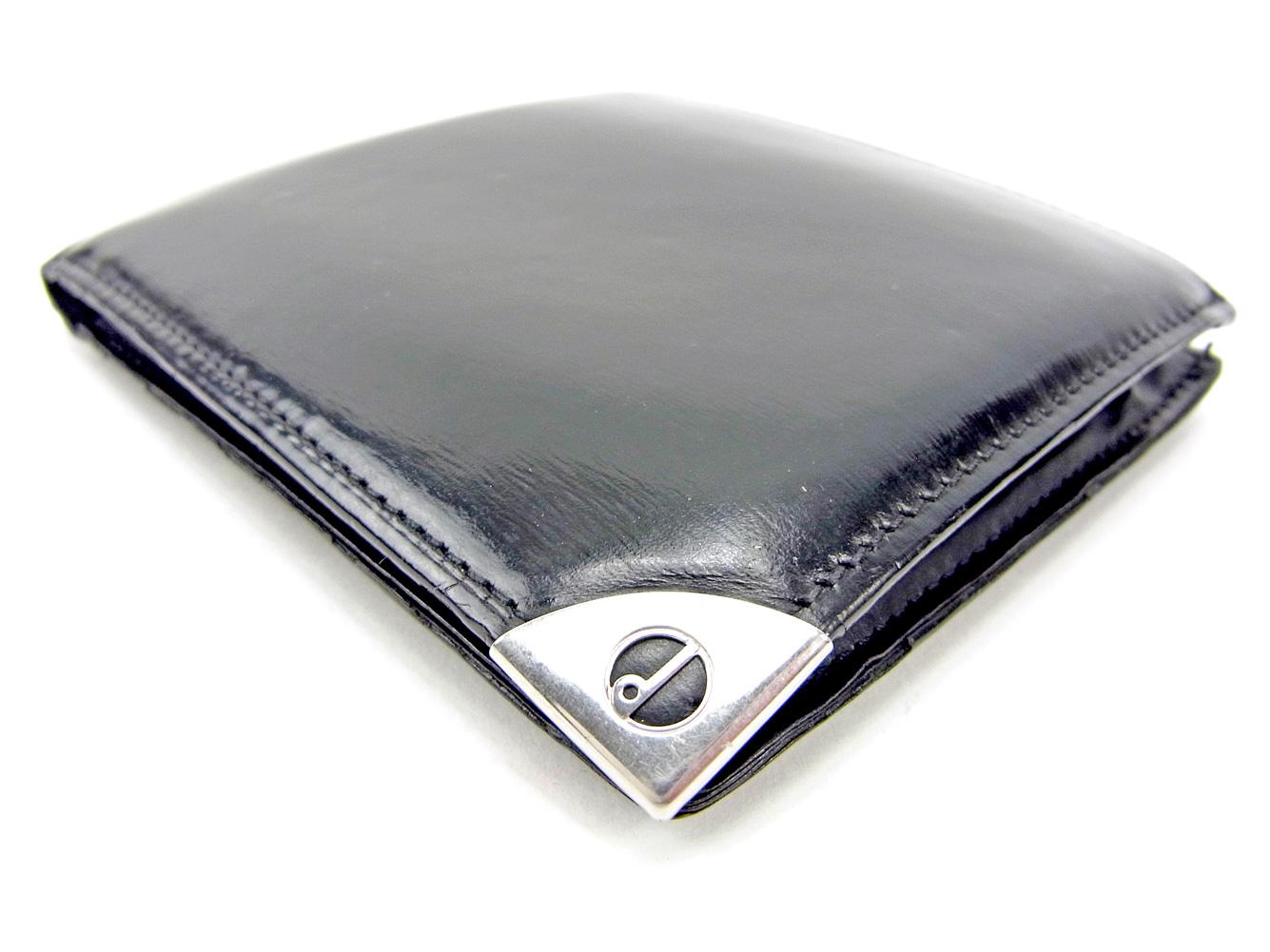 258a500a4c51 メンズ レディース 財布 財布 二つ折り dunhill ダンヒル 【中古】 ブラック G1403 セール 人気 レザー-その他