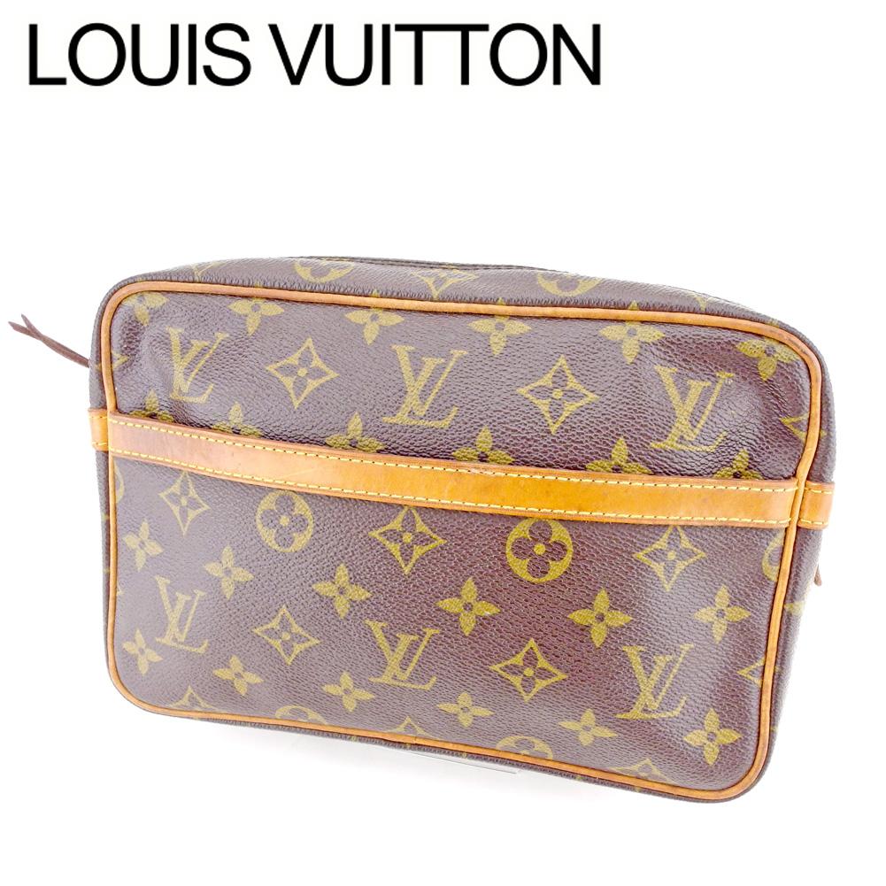【中古】 ルイ ヴィトン Louis Vuitton セカンドバッグ クラッチバッグ メンズ可 コンピエーニュ23 モノグラム ブラウン モノグラムキャンバス 人気 セール P796
