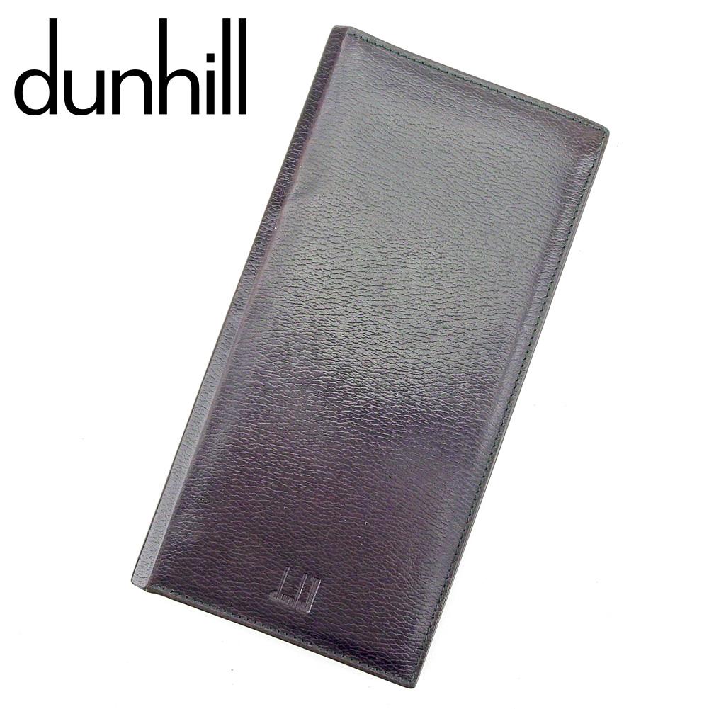 【中古】 ダンヒル dunhill 長札入れ 札入れ メンズ ロゴ ブラック レザー 訳あり セール P929