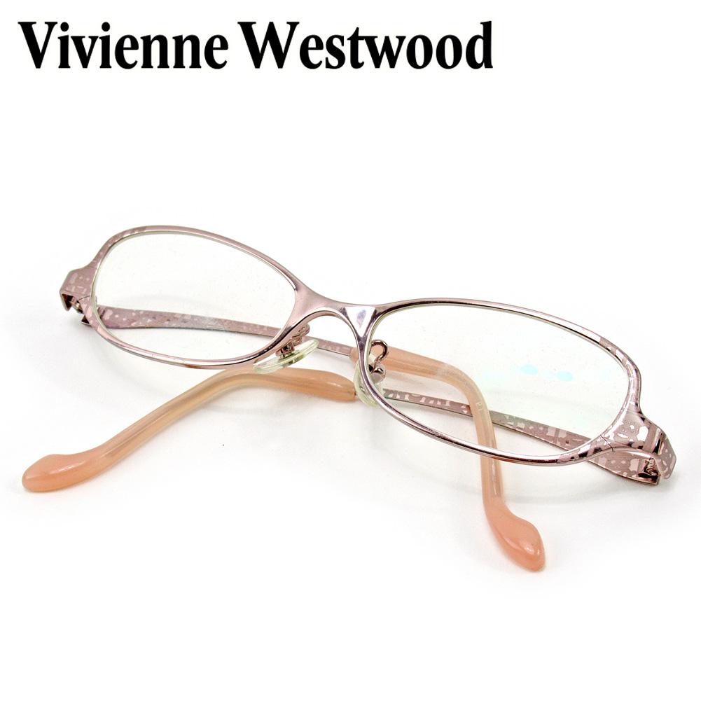 【中古】 ヴィヴィアン ウエストウッド Vivienne Westwood 眼鏡 メガネ 度入り レディース ピンク E1503