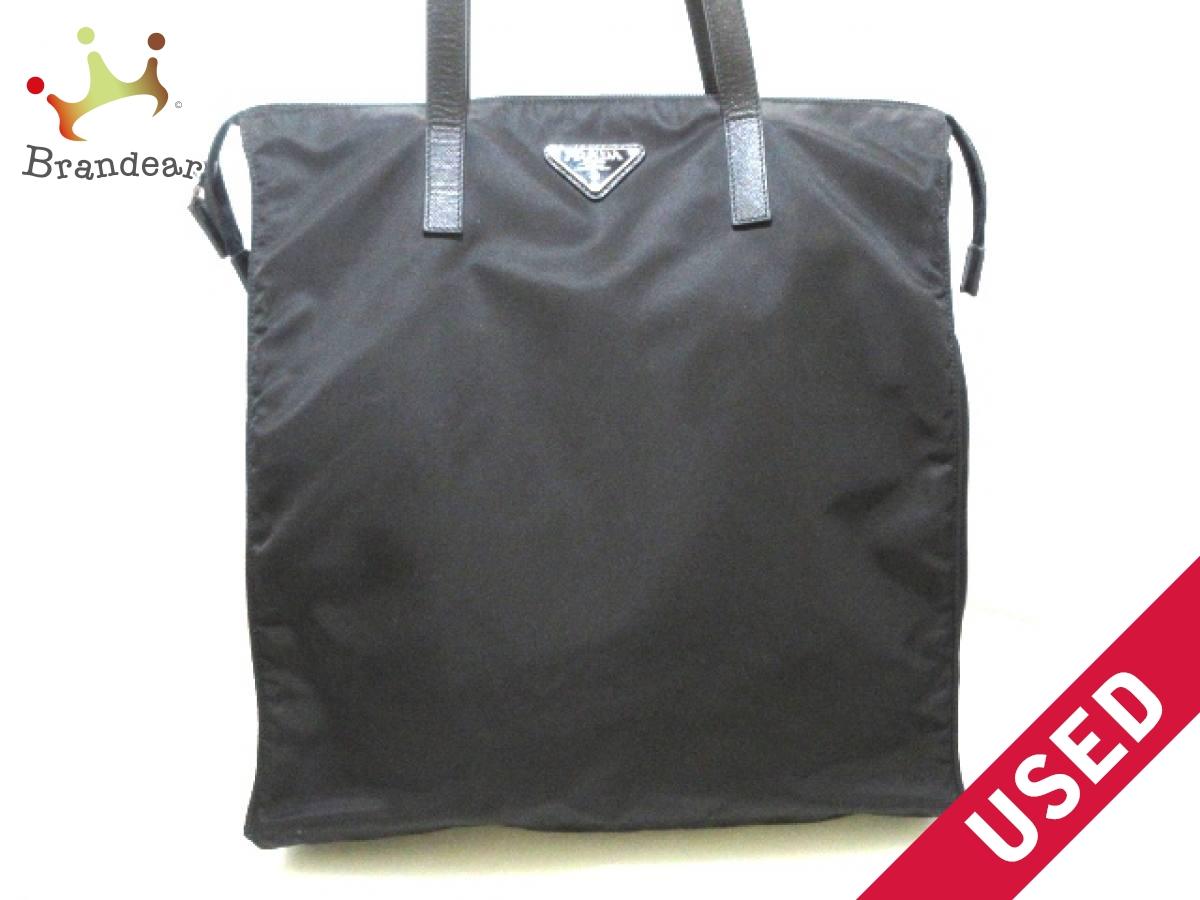 PRADA(プラダ) ハンドバッグ美品■ - 1BG132 黒 ナイロン×レザー【中古】