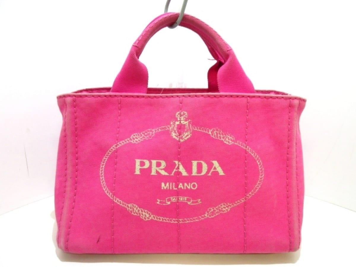 PRADA(プラダ) トートバッグ CANAPA B2439G ピンク キャンバス【中古】