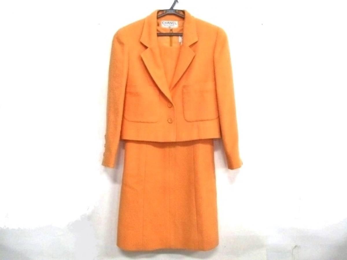 CHANEL(シャネル) ワンピーススーツ サイズ38 M レディース オレンジ【中古】