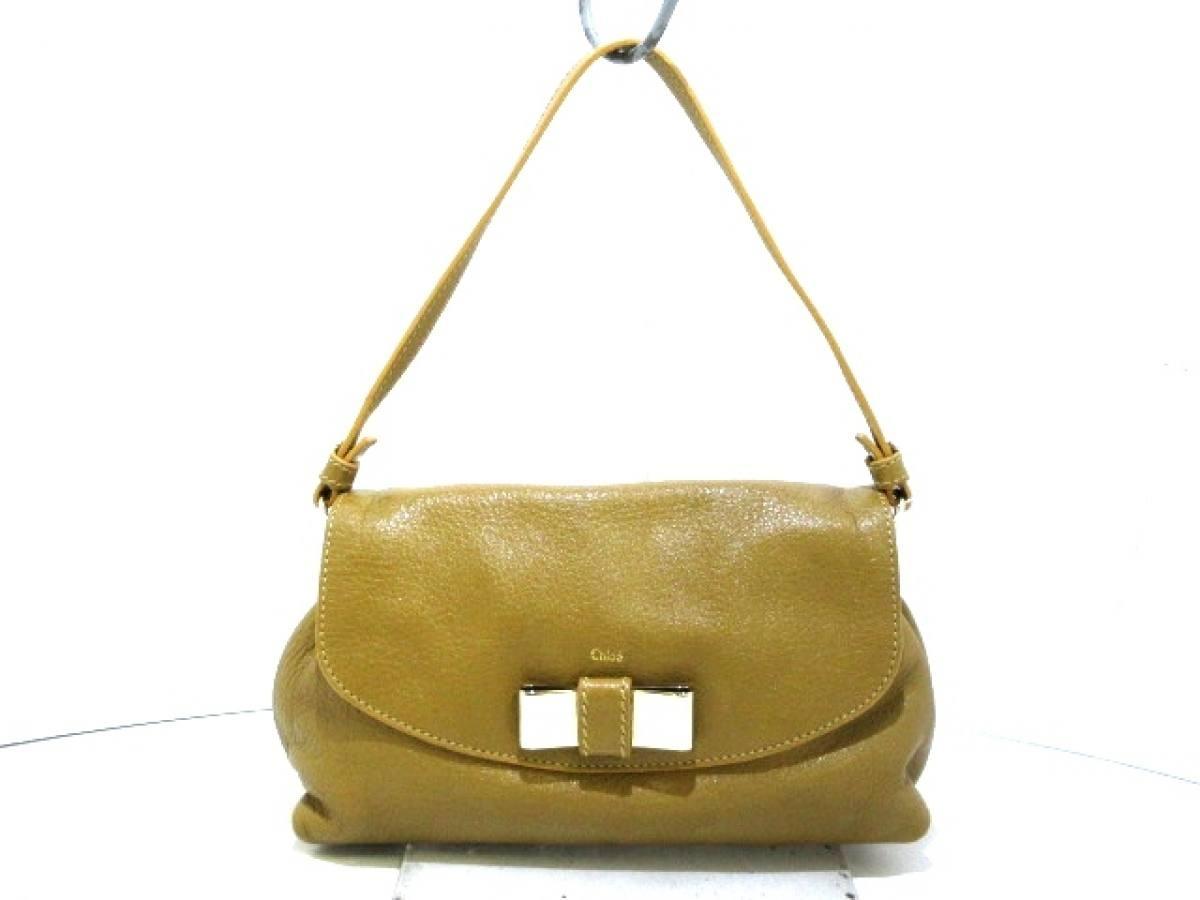 Chloe(クロエ) ハンドバッグ美品■ リリィ ベージュ ハンドル着脱可/ミニサイズ レザー【中古】