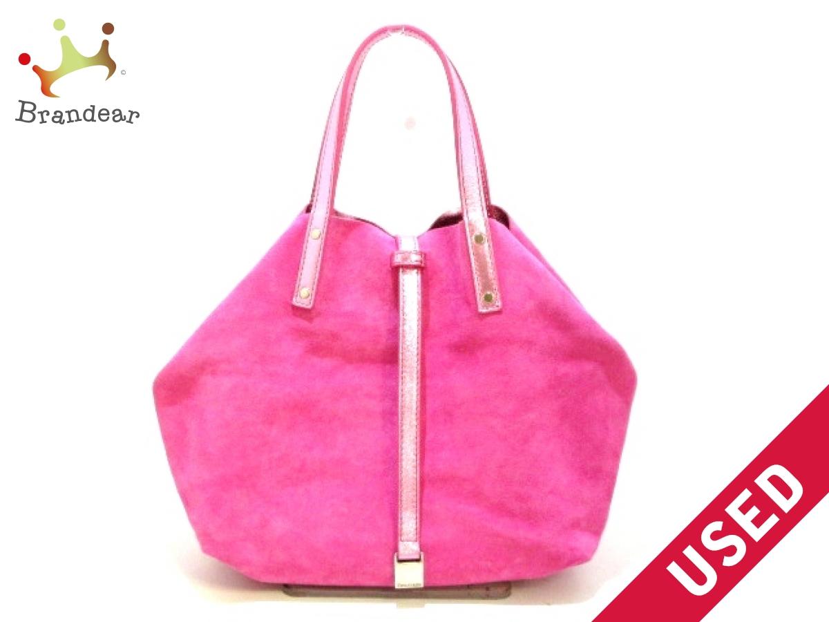 TIFFANY&Co.(ティファニー) トートバッグ美品■ ピンク リバーシブル スエード×レザー【中古】