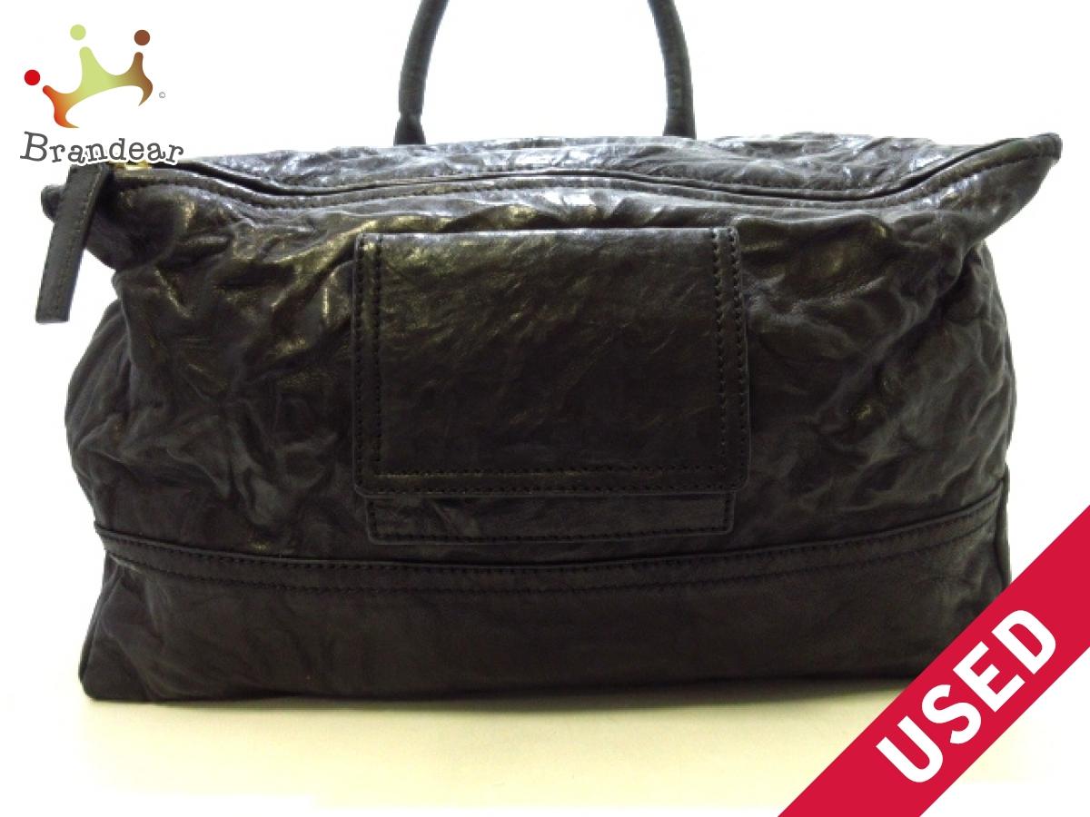 GIVENCHY(ジバンシー) ハンドバッグ美品■ パンドラ 黒 ウォッシュド加工 レザー【中古】