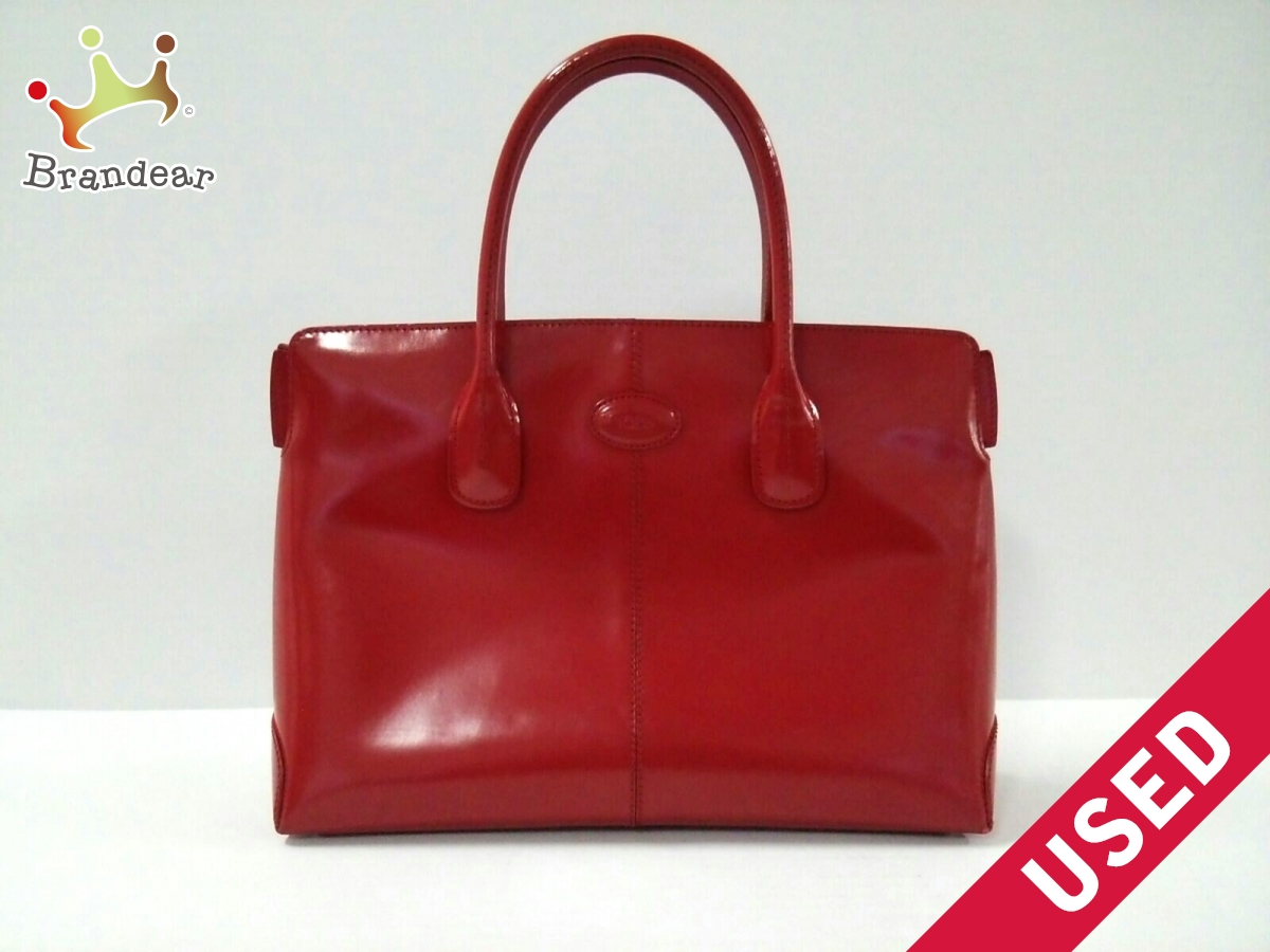 TOD'S(トッズ) トートバッグ レッド レザー【中古】