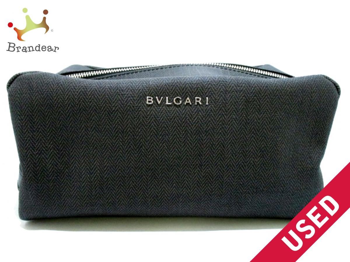BVLGARI(ブルガリ) セカンドバッグ ウィークエンド ダークグレー×黒 PVC(塩化ビニール)×レザー【中古】