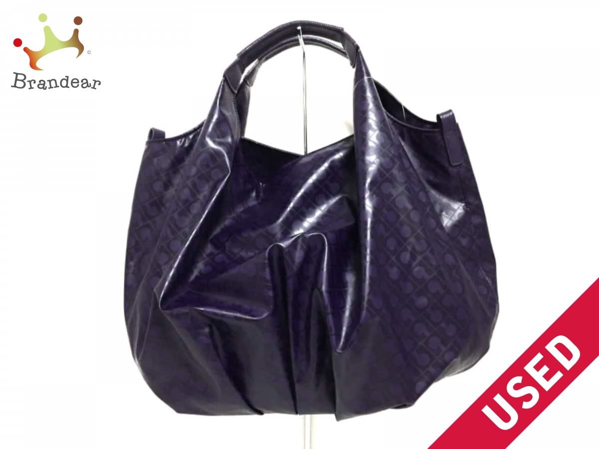 GHERARDINI(ゲラルディーニ) トートバッグ パープル PVC(塩化ビニール)×レザー【中古】