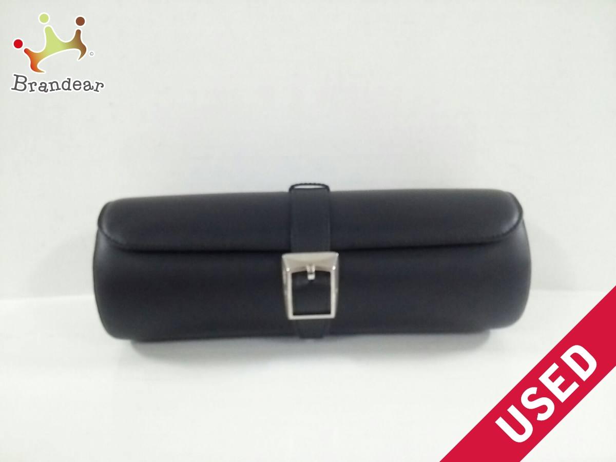 Cartier(カルティエ) 小物入れ美品■ - 黒 ウォッチケース レザー【中古】