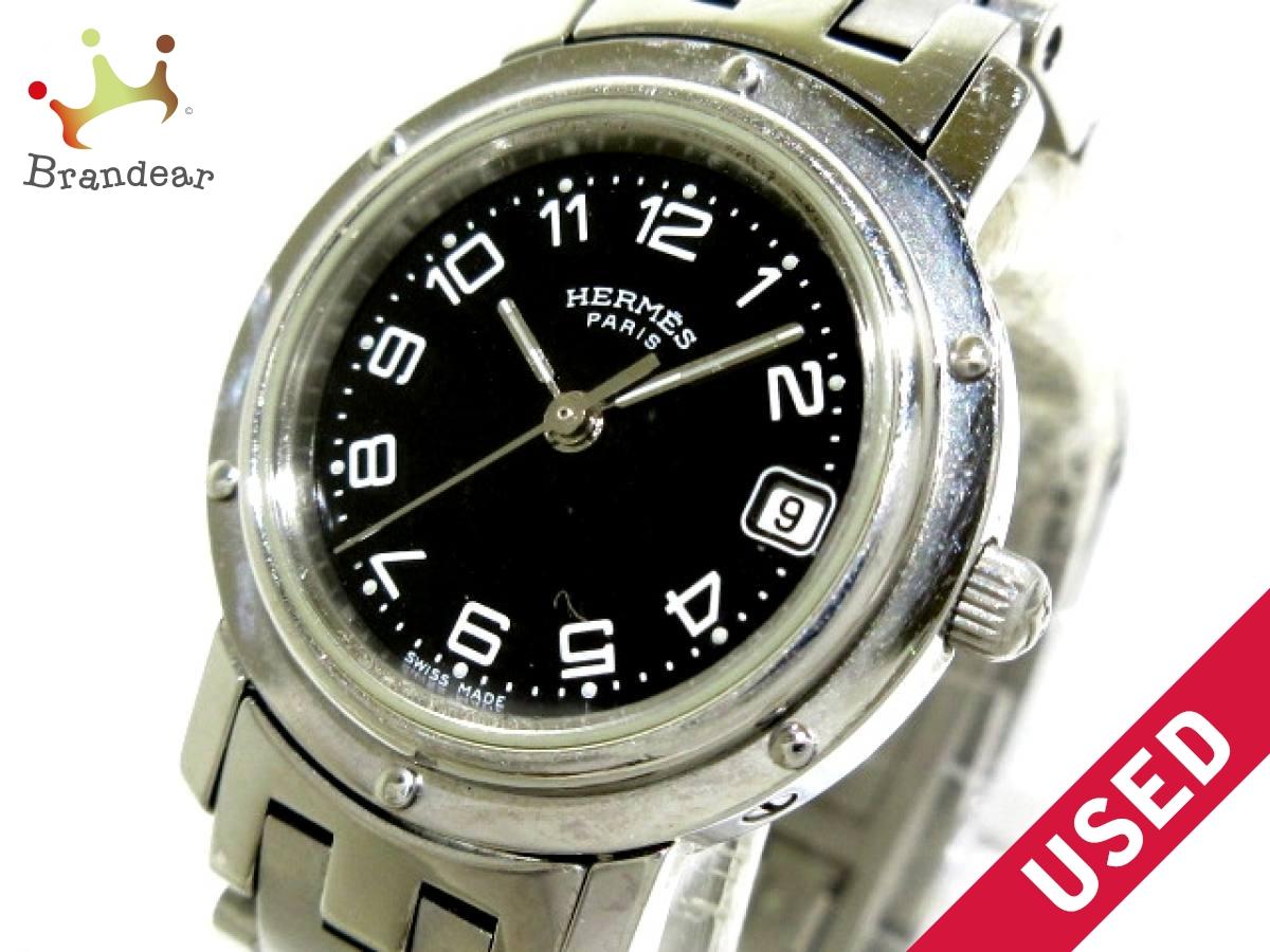 HERMES(エルメス) 腕時計 クリッパー CL4 210 レディース 黒【中古】